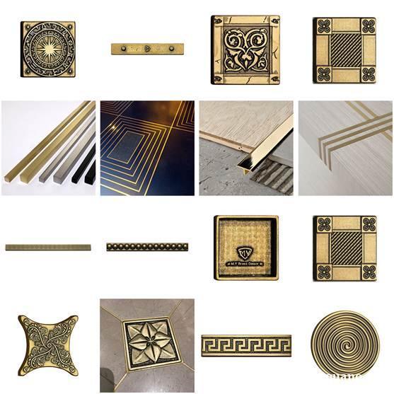 小铜砖黄铜线 背景墙镶嵌大理石铜条