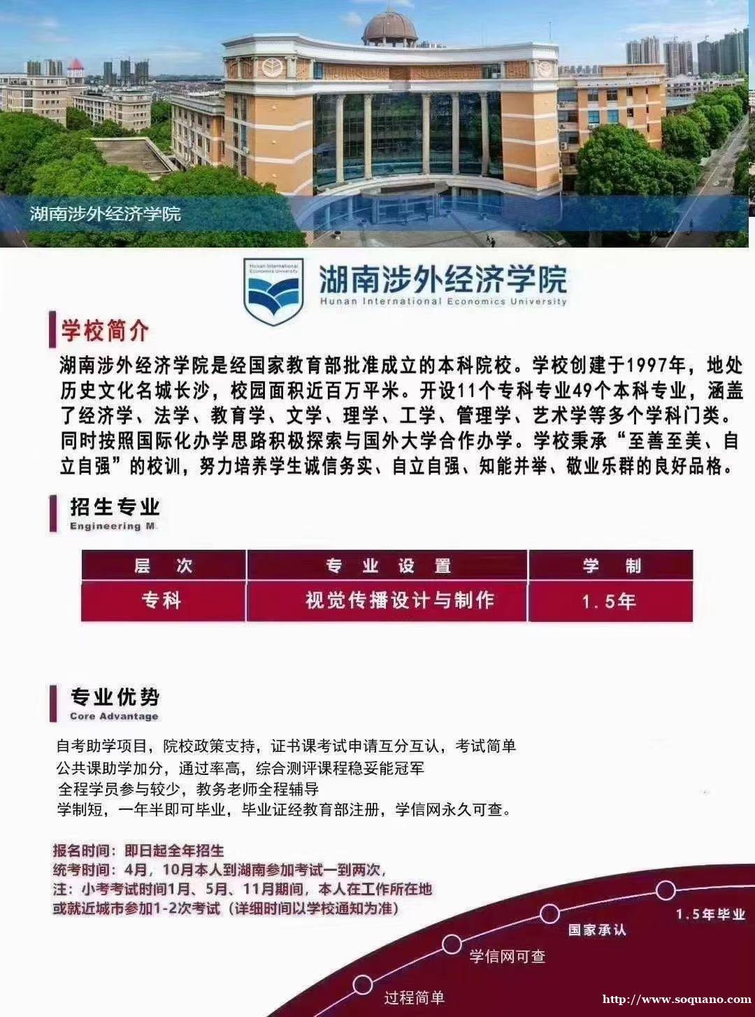 湖南涉外经济学院自考大专统考哪两科助学力度大吗